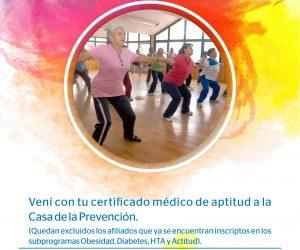 Actividad física para adultos mayores en Casa de la Prevención