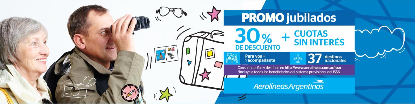 Promo jubiliados. Convenio con Aerolíneas Argentinas