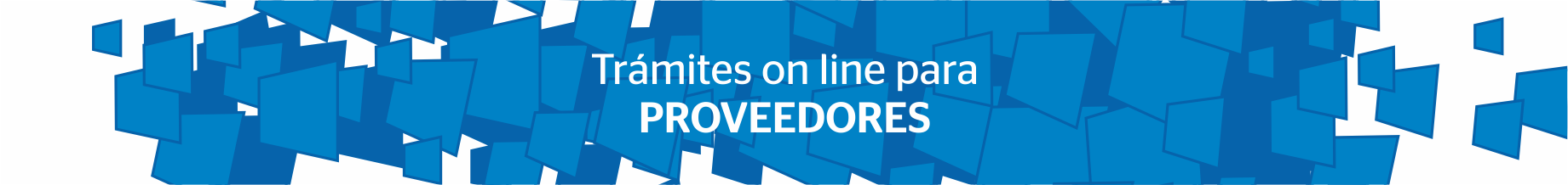 Trámites on-line para PROVEEDORES